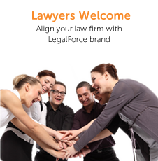 Lawyers Welcome - Align your law firm with LegalForce Brand.